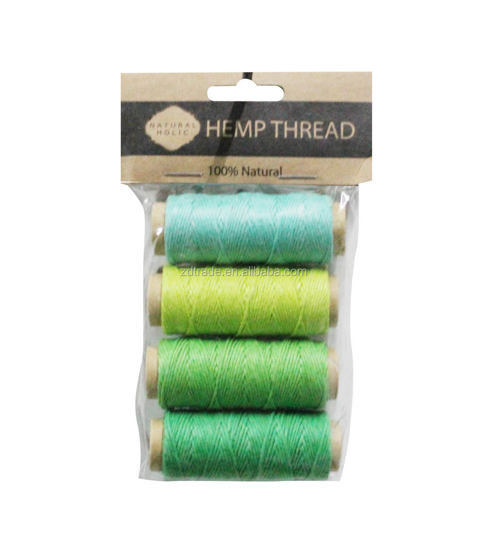 2015 Trendy waxed Hemp twine organic cord, Mini spool