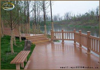 Teak Wood Plastic Compsite Park Fence