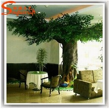 Indoor durable metal tree guards trunk /fake decorative plastic tree