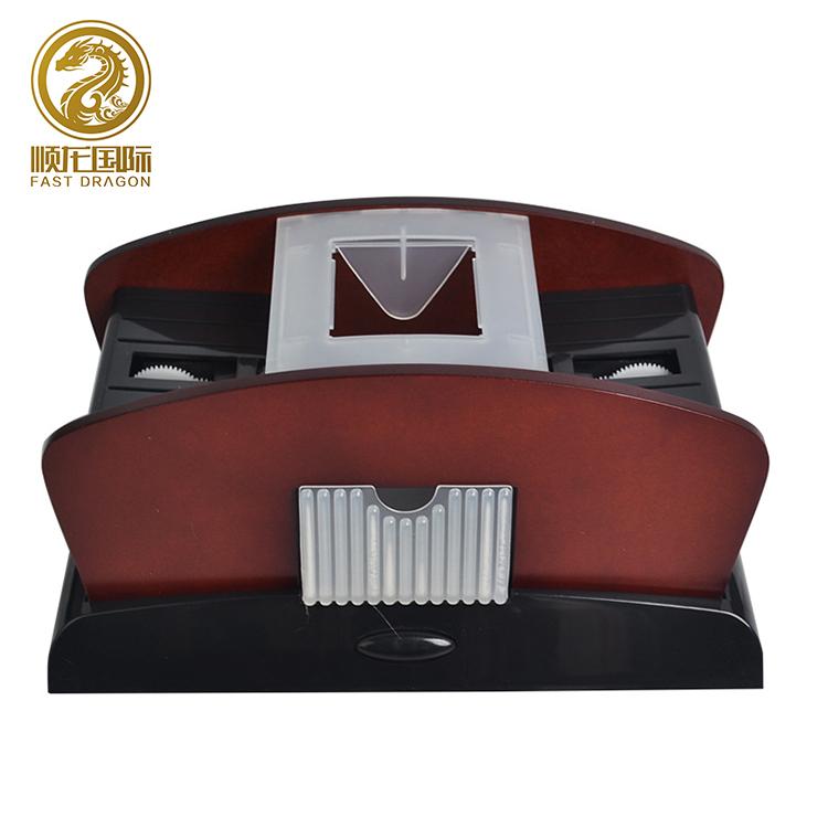 Jogando Cartas de Poker Shuffler Máquina de Cartão Plástico De Madeira Decks Baralhar Shuffler Casino 1-2 Máquina