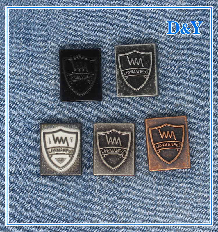 jeans tiquette m tallique en relief marque logo pour v tements etiquettes de v tements id de. Black Bedroom Furniture Sets. Home Design Ideas