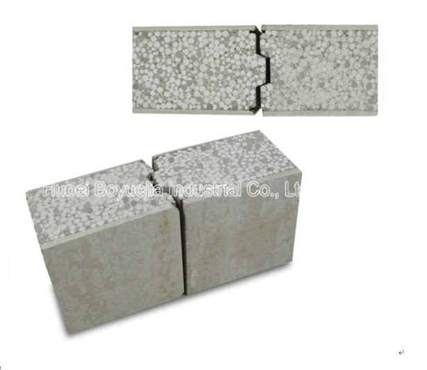 Soundproof lightweight eps foam concrete sandwich wall for Cement foam blocks