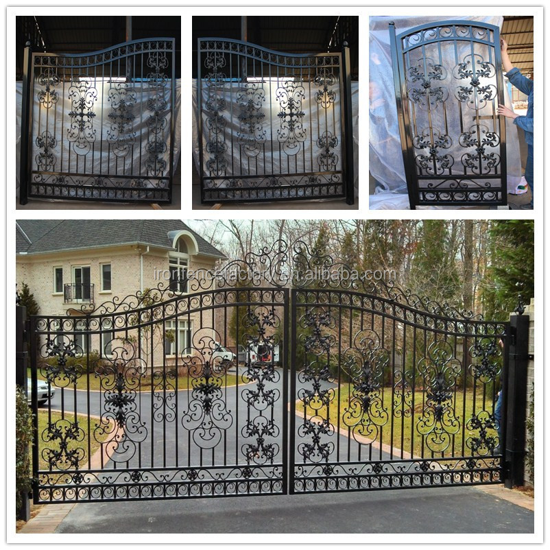 2015 Latest Main Gate Design Cheap Price Simple Modern House Steel ...