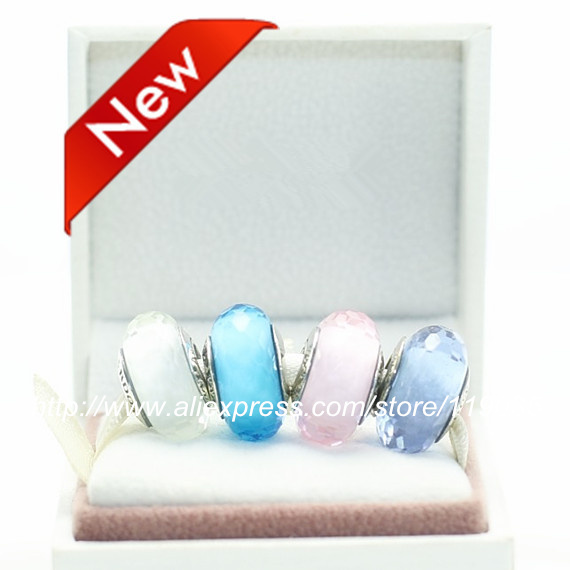 S925 Sterling Silver Screw Core Murano Glass Diy Bead Sets With Charm Box Fits European Jewelry Bracelets Necklaces & Pendants