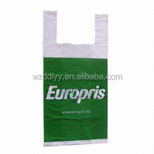biodegradable t-shirt bag/plastic food bag/plastic packaging bag
