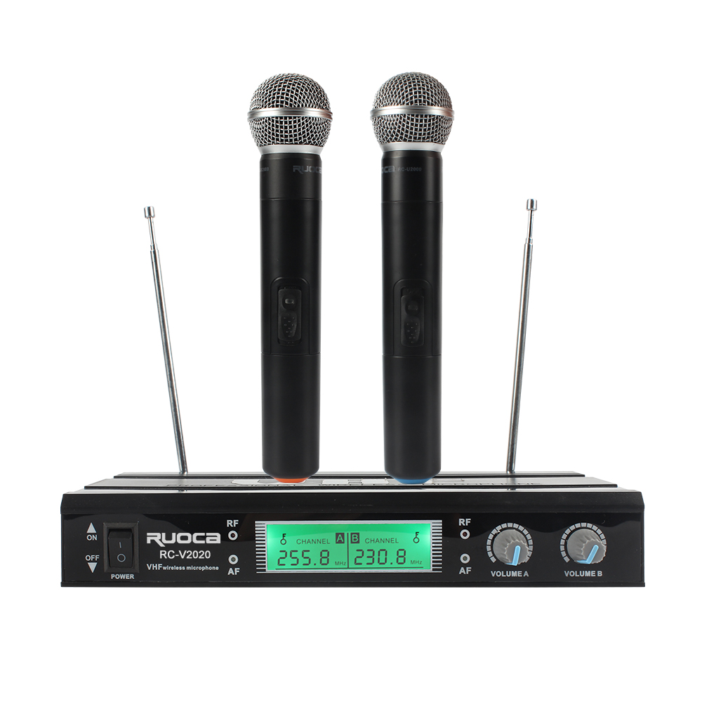 Genggam Headset Kerah Mikrofon Vokal Profesional VHF Mikrofon Nirkabel