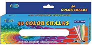 "Chalk - Assorted Colors - 3"" Sticks - 50 Pack (48 Pieces) - Chalk - Assorted Colors - 3"" Sticks - 50 Pack Boxed - Non-Toxic - Astmd Approved - Very Good Quality."