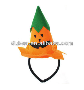 Halloween Accessory Party Hairbands,Plush Jack-O-Lantern Pumpkin Hat n Hair Band,Funny Halloween Hairband