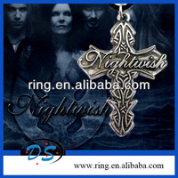 Nightwish Rock Band Logo Cross Pendant Necklace For Fans Gift