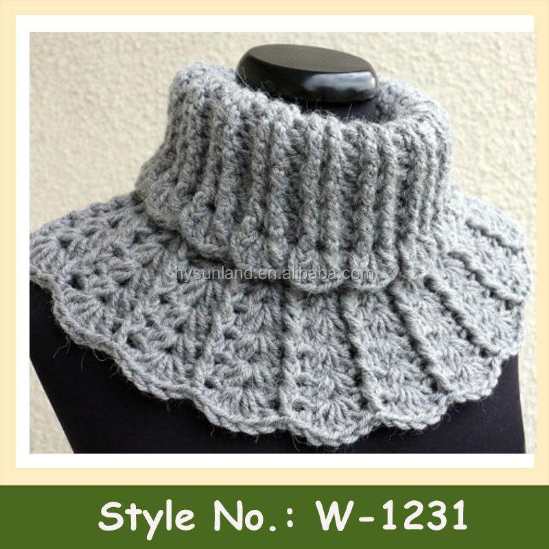 W-1231 Moda Damas Crochet Cuello Bufandas Más Calientes Collar De ...