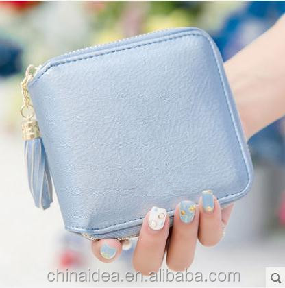 A short section of ladies purse female zipper Mini cute little purse <strong>wallet</strong> student simple small fresh <strong>Wallet</strong>