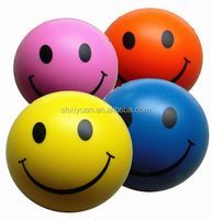 Wholesale kids beach pu smiley ball cute stress pu ball