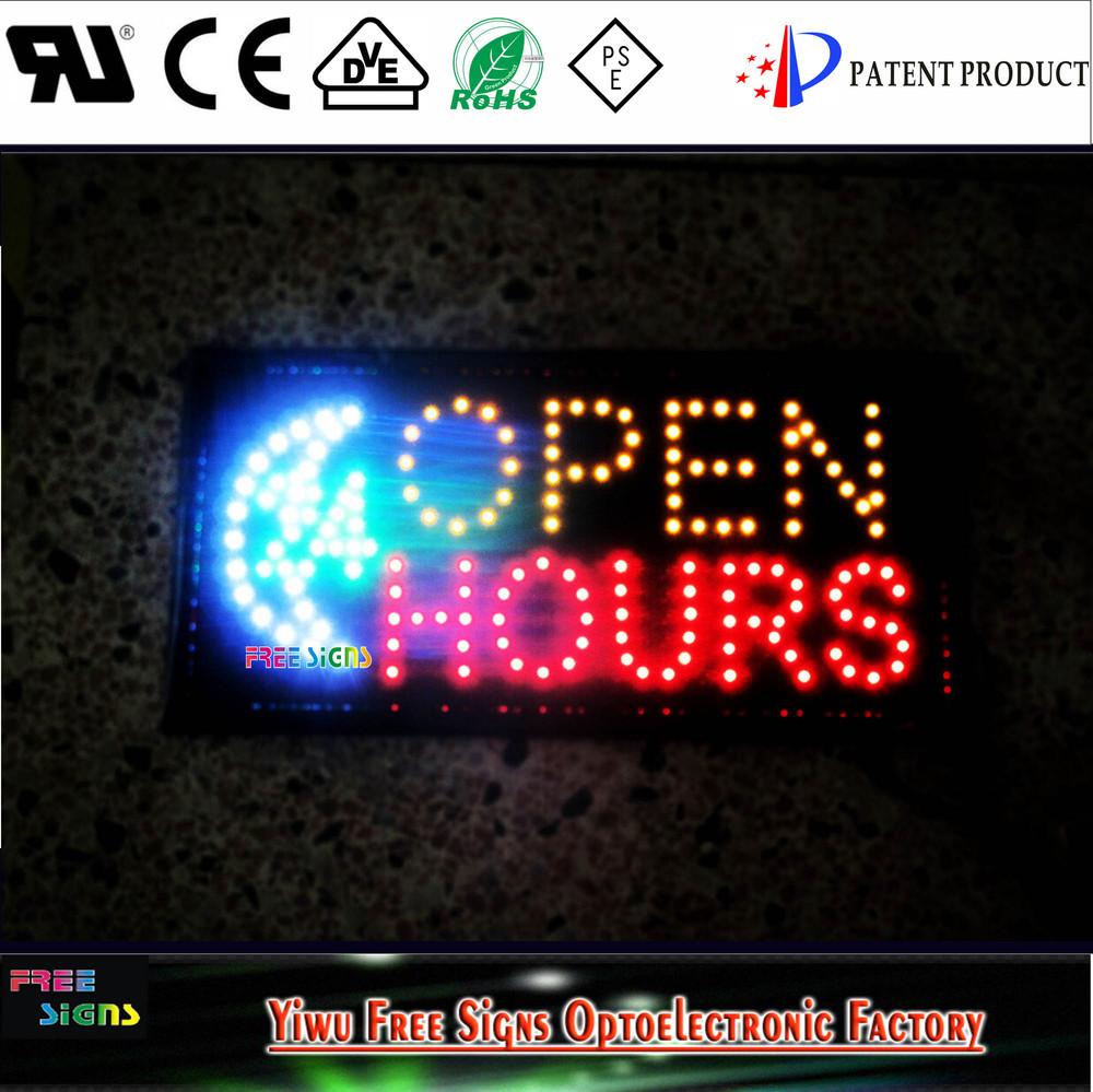 ultra bright led led 24 horas heures neon light signe ouvert anim s open signe led panneau. Black Bedroom Furniture Sets. Home Design Ideas
