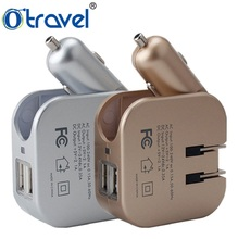 global functional usb car and home charger with US/UK/AUS/EU plugs 2.1A