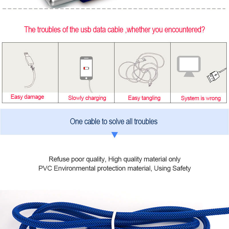 High quality 1m 8 pin charging usb cable for iPhone cable cord