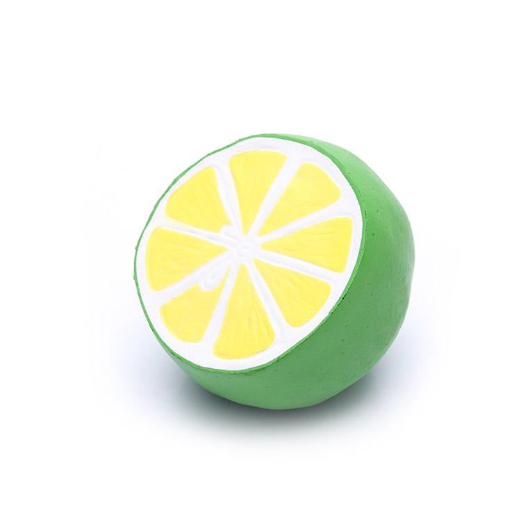 Custom high quality pu foam suqishy  lemon shaped stress ball