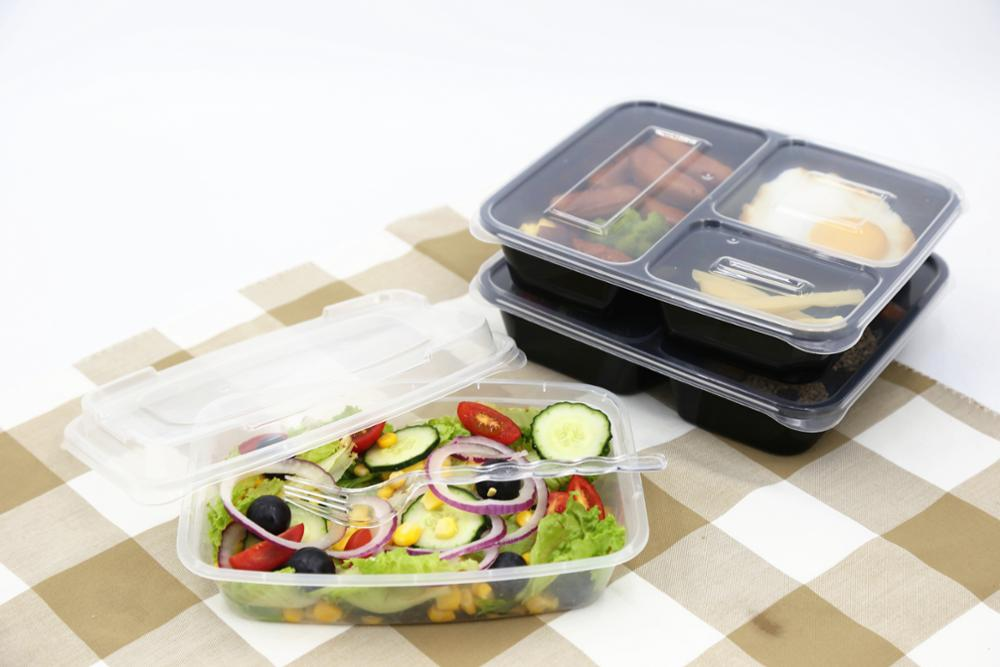 Wholesale 3 Compartment Take Away Microwave Pp High Quality Food