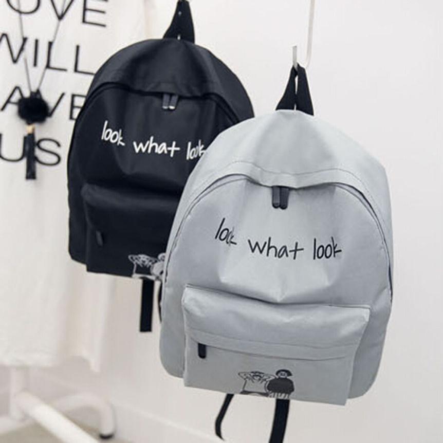 8a7b0c384129 Wholesale Preppy Style Unique Women S Canvas Backpacks Girl School ...