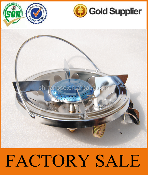 Cixi Jinguan Supply Cast Iron Portable Camping Gas Stove with Thermoelectric Generator,BBQ Picnic Portable Camp Stove with Valve