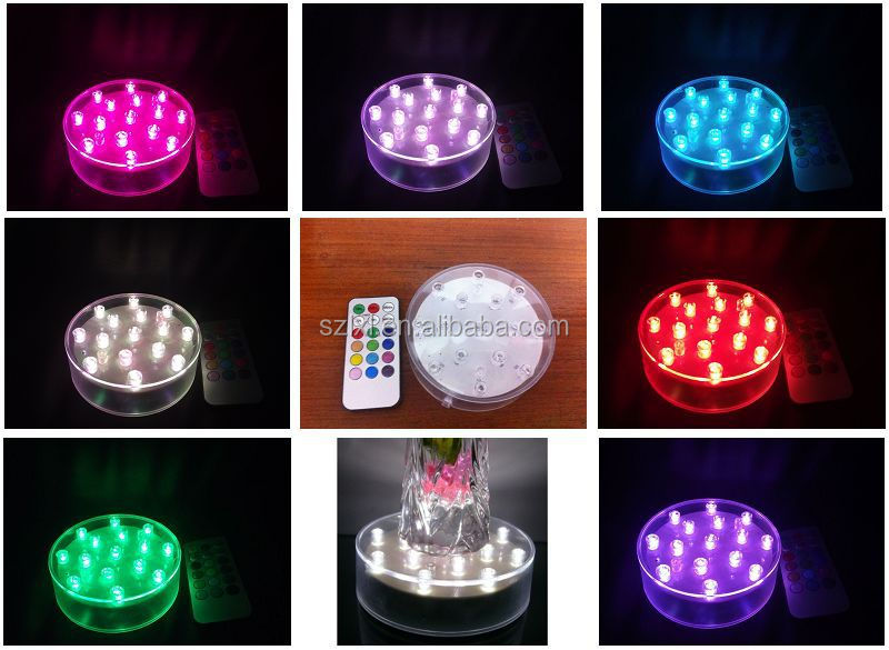 10cm Wide Multi-color Led Base Light With Remote Control/ Led ...