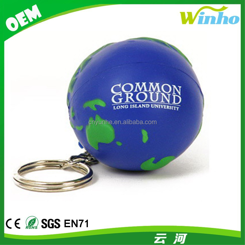 Winho Squeeze Earth Globe Stress Ball Keyring