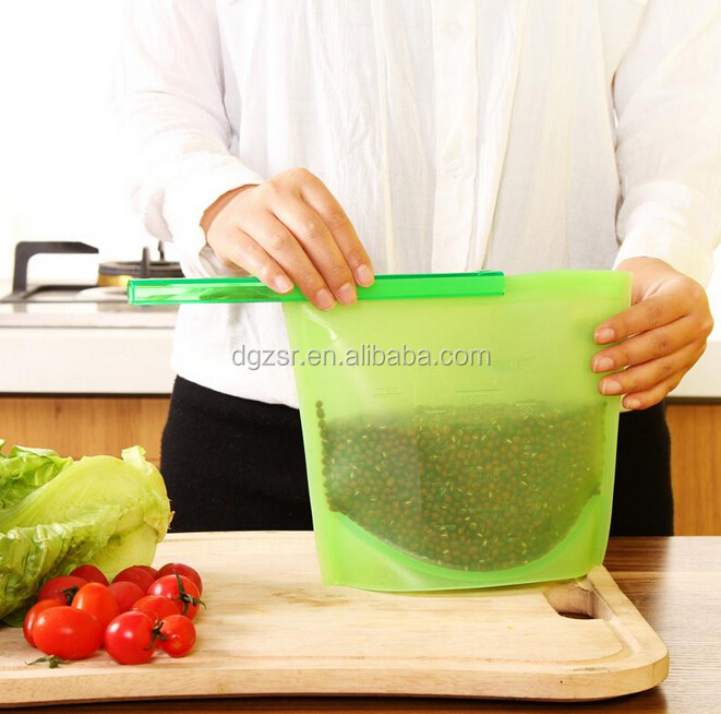 2016 Silicone fresh vegetable food packaging bag