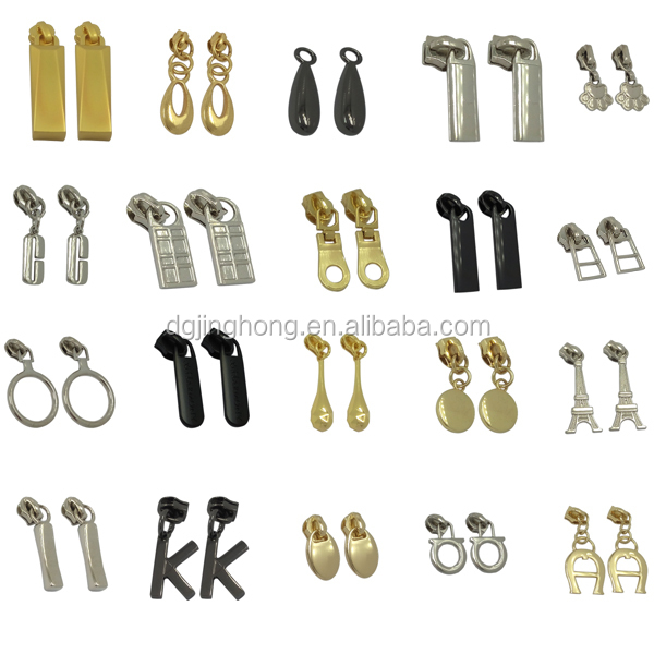 3 Zipper Head Gold Metal Round Ring Zipper Pull Buy Gold Metal