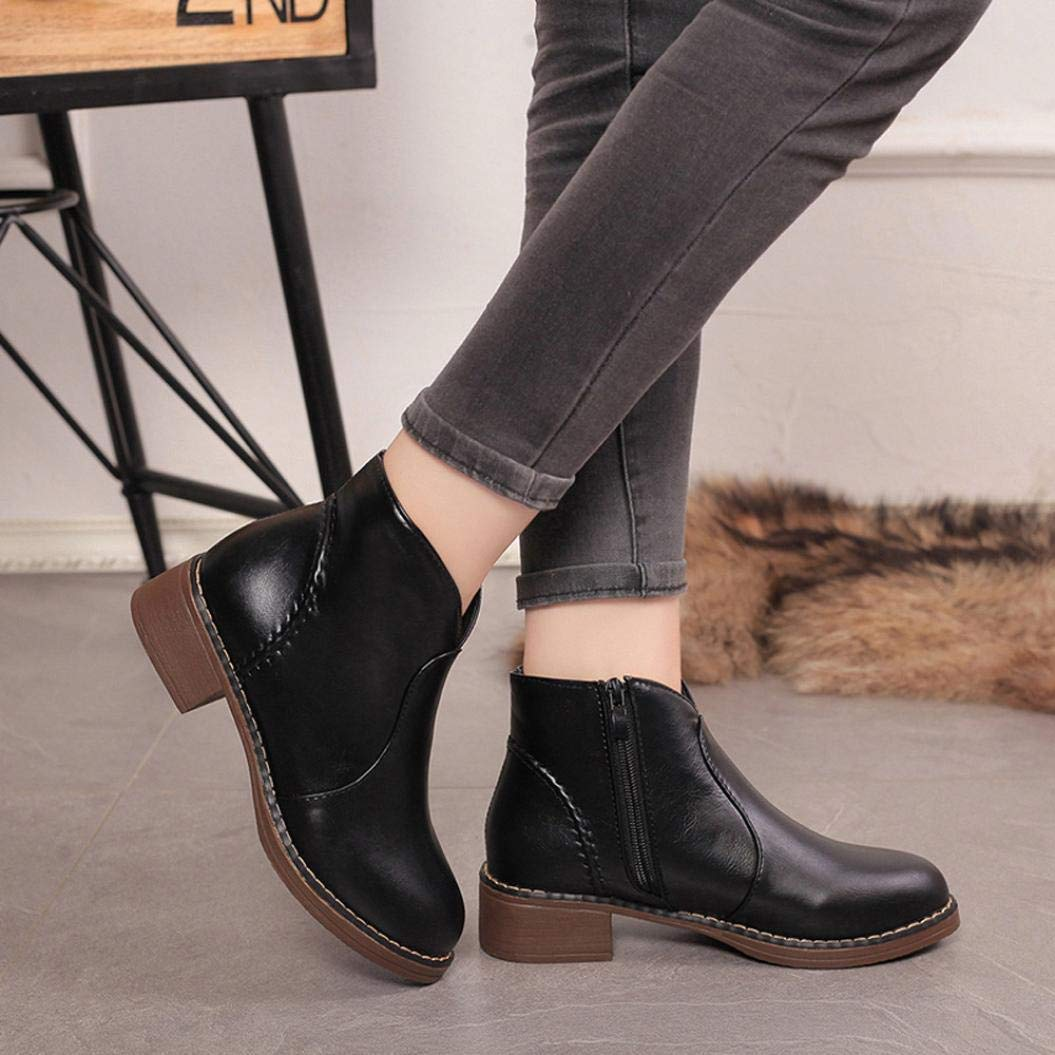37206e6729c3 Get Quotations · Gyoume Women Ankle Boots Winter