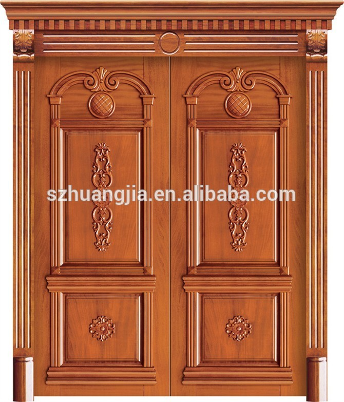 Simple kerala house main door design buy wood framed for Indian main double door designs