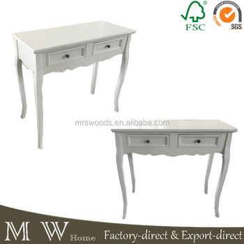 Mw Home Shabby Chic Pine Wood White 2 Drawers Antique Furniture