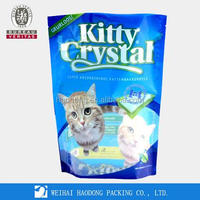 Accept Order and Gravure Printing Handling Plastic Ziplock Cat Litter Bag From China