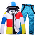 Ski suits and ski pants men s suits thick winter outdoor waterproof breathable ski jacket cotton