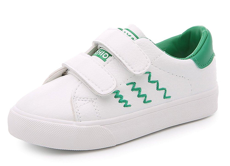 bfae58175e1 iDuoDuo Kids Athletic School Tennis Shoes Hook-and-Loop Outdoor Sneakers  Running Shoes (