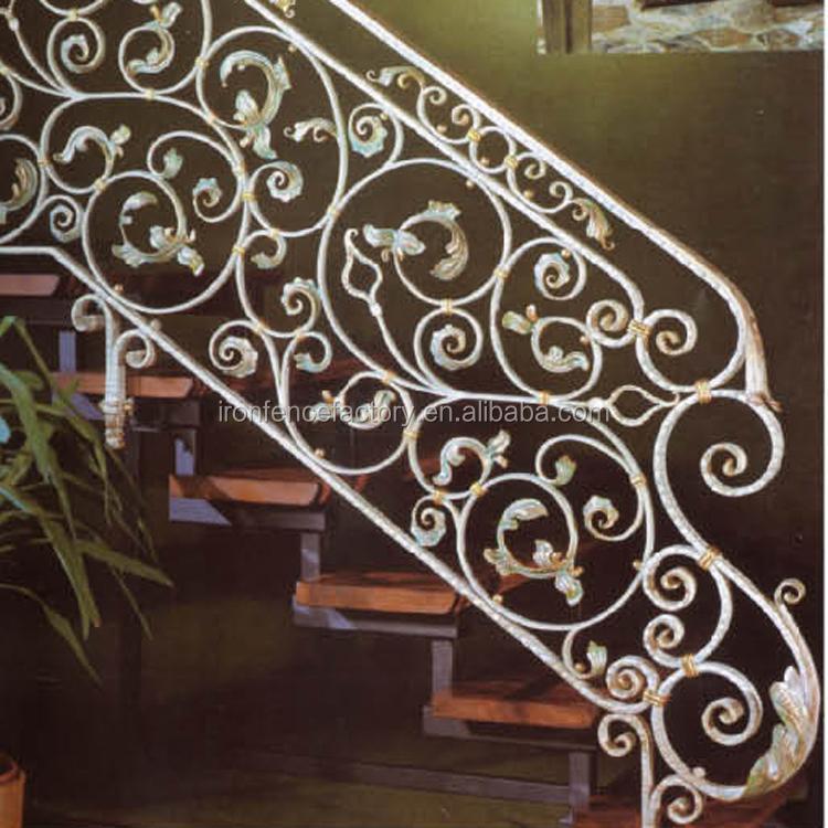Decorative Interior Wrought Iron Handrail Outdoor Wrought Iron Stair Railings Lowes Wrought