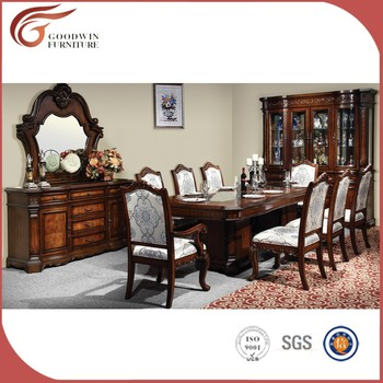 American Style Royal Oak Wood Dining Table And Chair