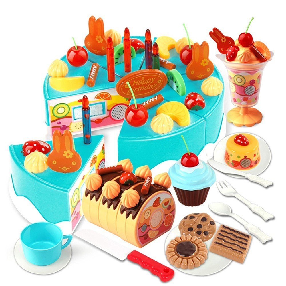 Buy kitchen toys for kids 75Pcs /set Plastic Kitchen Cutting Toy ...