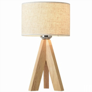 Siren Wood Lamp Round Fabric Fahion Lighting European Style Tablet Lamp Factory Provided Desk Light