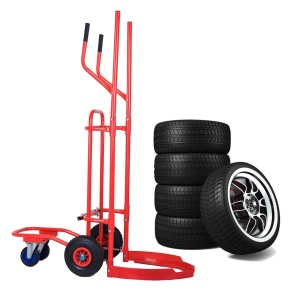 Store handling tire trolley cart