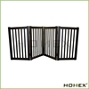 Balck Wooden 4 Panels Dog Pet Gate/Homex_BSCI