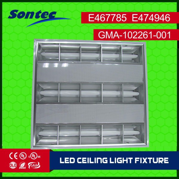 60x60 Led 18w Louver Fixture Commercial Grille Led Commercial ...