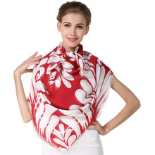 Ladies super fashion digital printed your own design silk scarf