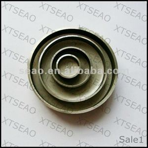 Galvanized water jacket plugs for auto engine