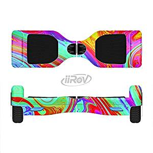 The Neon Color Fusion V7 Full-Body Wrap Skin Kit for the iiRov HoverBoards and other Scooter (HOVERBOARD NOT INCLUDED)