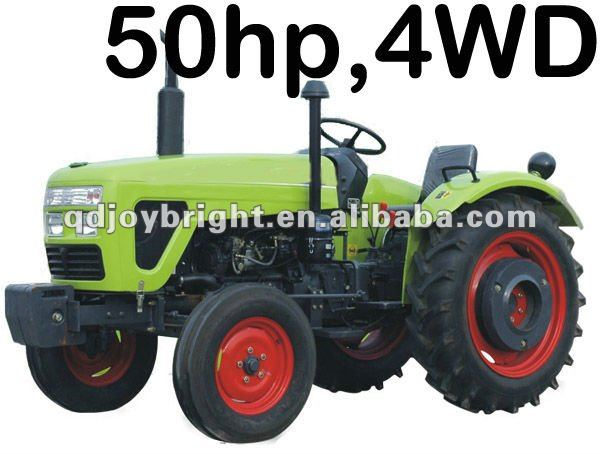 50hp farm tractor,12F+4R shift,Double disc clutch,hydraulic steering,3point linkage,traction system,quick hitch
