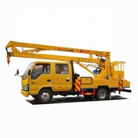 Japan 600P double cab 14m 16m working height hydraulic lift basket manlift truck