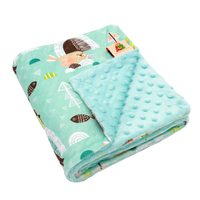 13% off Fashion Animal Design Minky Material Newborn Baby Types Of Blanket