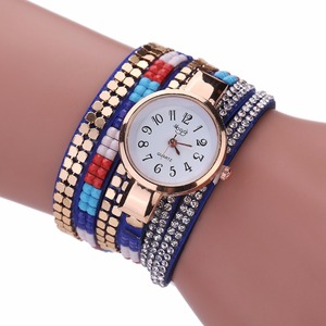 Wholesale Luxury Goods Vintage Colorful Crystal Acrylic Bracelet Wrist Watch For Women