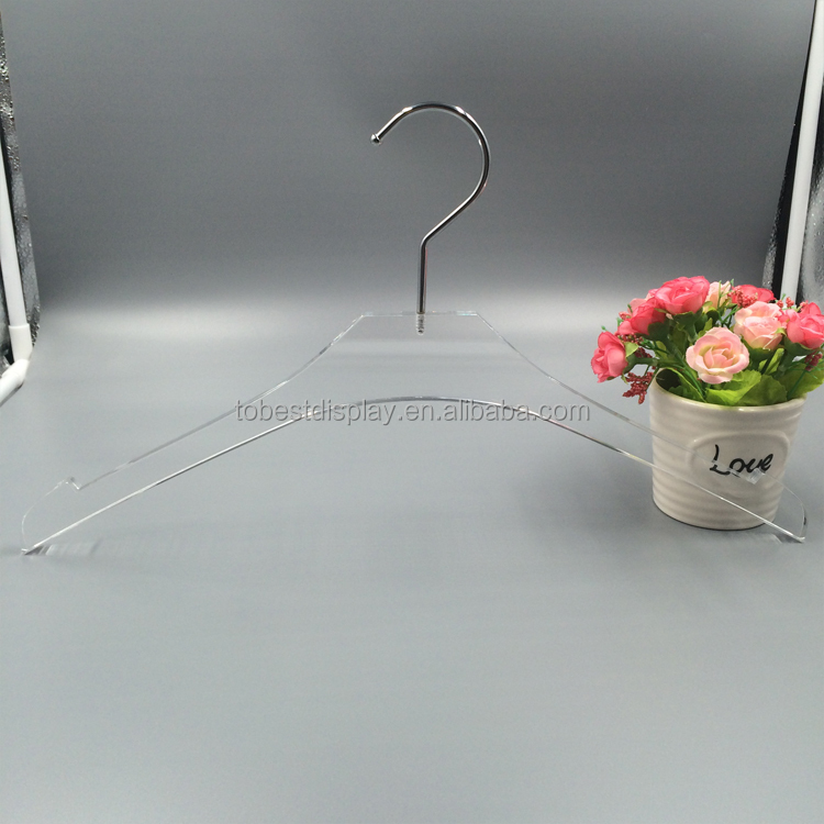 Hot Sale Luxurious Feel and Look Clear Acrylic/Lucite Crystal cloths Hangers