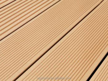Teak Color Wood Texture Plastic Composite Timber Patio Flooring