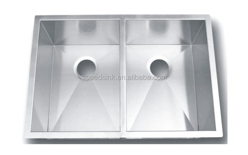 Premium 304 Stainless Steel Double Bowl Sink Undermount Antique